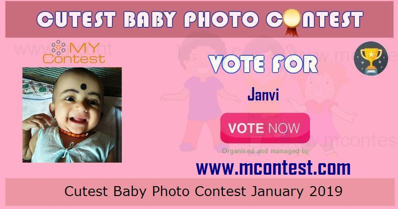 Vote for Janvi - Cutest Baby Photo Contest January 2019
